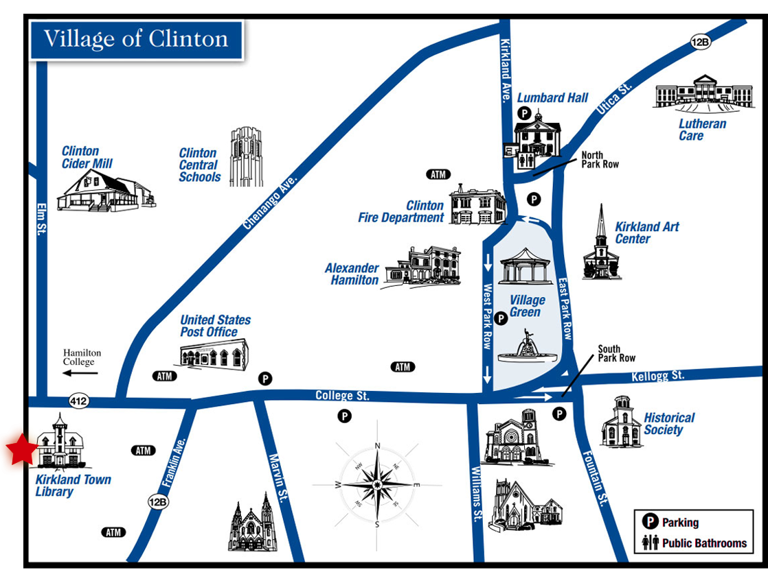 Clinton Map - Antique & Irish Welch House